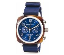 Herren Uhr Clubmaster Chrono, Blau