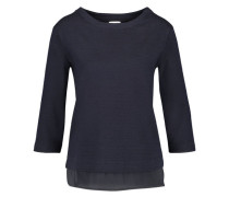 Damen Shirt Dreiviertelarm, marine