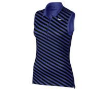 Damen Golfshirt / Poloshirt Precision Print SL Polo ärmellos, Blau