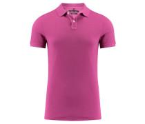 Herren Poloshirt Shaped Fit Kurzarm, purple