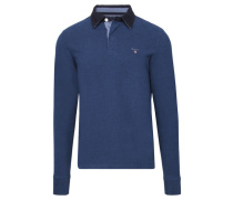Herren Poloshirt The Original Heavy Rugger Langarm, Blau