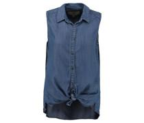 Damen Bluse Ärmellos, blue