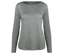 Damen Leinen-Shirt Pearl Langarm, Grün