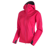 Damen Softshelljacke mit Kapuze Ultimate Hoody Women, Rot