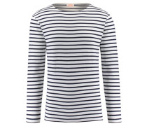 Herren Shirt Langarm, Weiß
