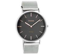 OOZOO: Damen Uhr Ultra Slim Vintage C7725, silber