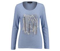 Damen Shirt Langarm, Blau