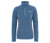 Damen Fleecepullover 100 Glacier, Blau