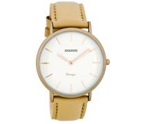 OOZOO: Damen Uhr Ultra Slim Vintage C7735, sand