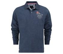 New Zealand Auckland: Herren Polo-Shirt Langarm, marine