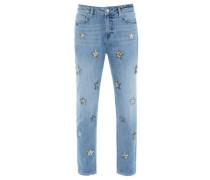 Damen Boyfriend-Jeans, Blau
