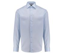 Herren Hemd Custom Fit Langarm, bleu