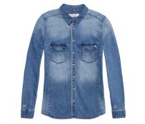 Damen Jeansbluse, stoned blue