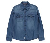 Jungen Jeanshemd Denim Shirt L/S Regular Fit, Blau