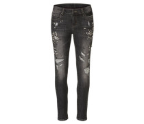 Damen Jeans Slim Fit, Schwarz