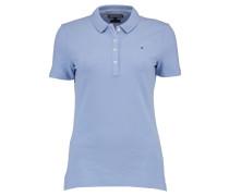 Tommy Hilfiger: Damen Polo-Shirt New Stripe, aqua