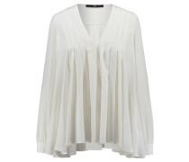 Damen Seiden-Bluse Langarm, Weiß