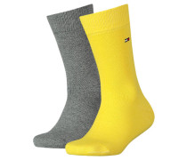 Jungen und Mädchen Socken TH Basic Doppelpack, Gelb