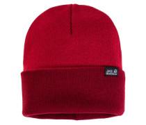 Mütze / Strickmütze Rib Hat, Rot