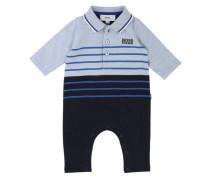 Jungen Baby-Strampler Langarm, Blau