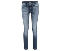 Damen Jeans Skinny Fit, Blau