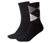 Damen Socken Doppelpack, Schwarz