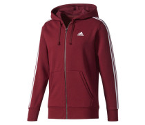 Herren Sweatjacke mit Kapuze Essentials 3S FZ Hood Fleece, Rot