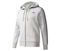 Herren Sweatjacke mit Kapuze Essentials 3S FZ Hood Fleece, Grau