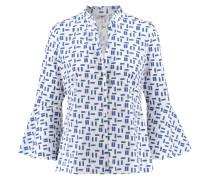 Damen Bluse 3/4-Arm, blau