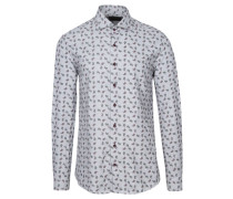 Herren Hemd Modern Fit Langarm, Grau
