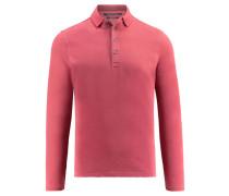 Herren Poloshirt Regular Fit Langarm, Rot