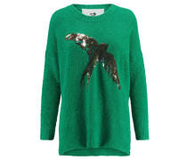 Damen Bouclé-Pullover Sally, Grün
