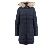 Damen Daunenjacke Light Long Bear, Blau