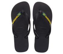 Herren Sandalen / Zehensandalen Brasil Logo, Schwarz