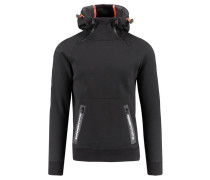 """Herren Sweatshirt """"Gym Tech Double Ziphood"""", schwarz"""