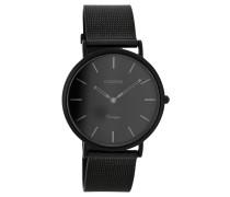 OOZOO: Damen Uhr Ultra Slim Vintage C7730 schwarz, schwarz