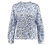 Damen Bluse Langarm, blau