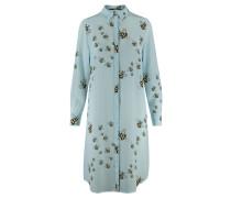 Damen Seidenkleid, bleu