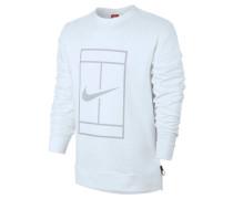 Herren Tennis Sweatshirt Tennis Crew Langarm, Weiß