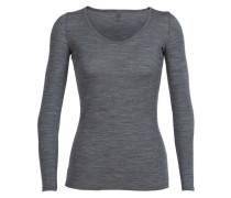 Damen T-Shirt Siren Long Sleeve Sweetheart, Grau