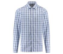 Herren Hemd Regular Fit Langarm, Blau