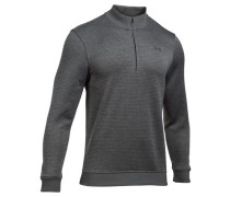 Herren Golfpullover UA Storm SweaterFleece Patterned ¼ Zip, Grau