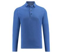 Herren Poloshirt Regular Fit Langarm, aqua