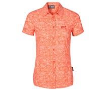 Jack Wolfskin: Damen Bluse Wahia Print Shirt, hellrot