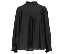 Damen Bluse Langarm, schwarz