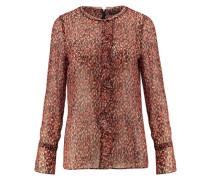 Damen Seiden-Bluse Teca Langarm, Orange