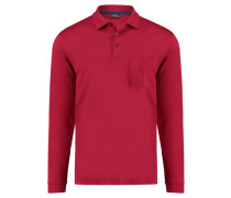 Herren Poloshirt Langarm, rot