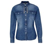 Damen Jeansbluse Langarm, blue