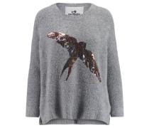 Damen Bouclé-Pullover Sally, Grau
