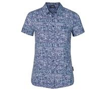 Jack Wolfskin: Damen Bluse Wahia Print Shirt, blau